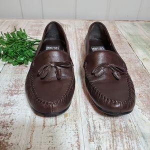 Mootsies Tootsies Brown Leather Loafer